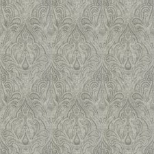 Silver Paisley Drapery and Upholstery Fabric by Fabricut