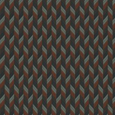 Terra Cotta Small Scale Woven Drapery and Upholstery Fabric by Stroheim