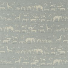 Powder Animal Drapery and Upholstery Fabric by Andrew Martin