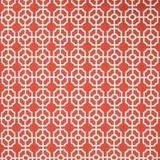 Spice Geometric Drapery and Upholstery Fabric by Greenhouse
