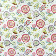 Spring Rose Floral Drapery and Upholstery Fabric by Greenhouse