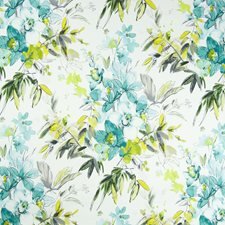 Spa Floral Drapery and Upholstery Fabric by Greenhouse