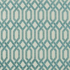 Turquoise Lattice Drapery and Upholstery Fabric by Greenhouse