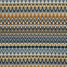 Blue/Creme/Beige Traditional Drapery and Upholstery Fabric by JF