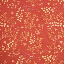 Terracotta Botanical Drapery and Upholstery Fabric by G P & J Baker