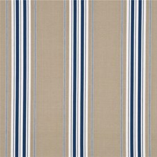 Indigo Stripes Drapery and Upholstery Fabric by G P & J Baker