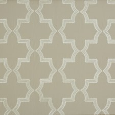 Warm Grey Embroidery Drapery and Upholstery Fabric by G P & J Baker