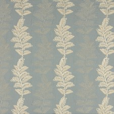Aquamarine Embroidery Drapery and Upholstery Fabric by G P & J Baker