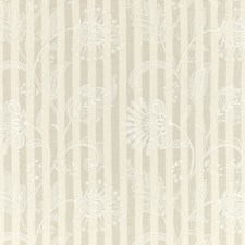Ivory/Stone Botanical Drapery and Upholstery Fabric by G P & J Baker