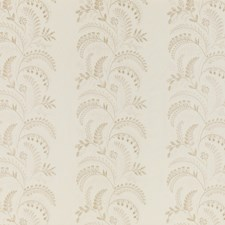 Ivory Embroidery Drapery and Upholstery Fabric by G P & J Baker