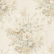 Grey/Beige Botanical Drapery and Upholstery Fabric by Lee Jofa