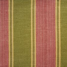 Rose/Green Stripes Drapery and Upholstery Fabric by Lee Jofa
