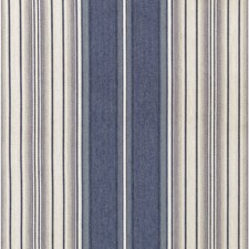Blue/Silver Stripes Drapery and Upholstery Fabric by Lee Jofa