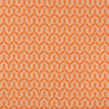 Orange Geometric Drapery and Upholstery Fabric by Lee Jofa