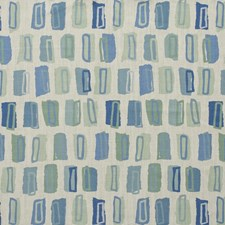 Blue/Green Modern Drapery and Upholstery Fabric by Lee Jofa