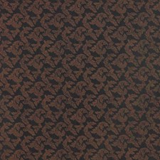 Copper Leaf Drapery and Upholstery Fabric by RM Coco