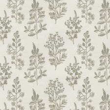 Grey Floral Drapery and Upholstery Fabric by JF