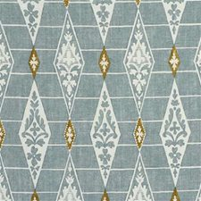 Aqua/Nu Geometric Drapery and Upholstery Fabric by G P & J Baker