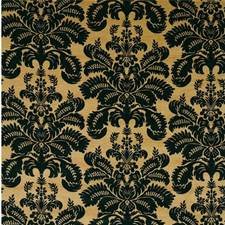 Camel/Black Velvet Drapery and Upholstery Fabric by G P & J Baker