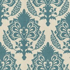 Teal Damask Drapery and Upholstery Fabric by G P & J Baker