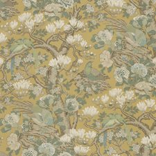 Ochre Animal Drapery and Upholstery Fabric by G P & J Baker