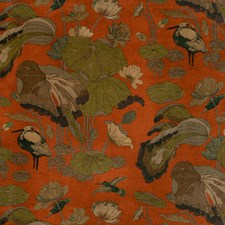 Spice Botanical Drapery and Upholstery Fabric by G P & J Baker