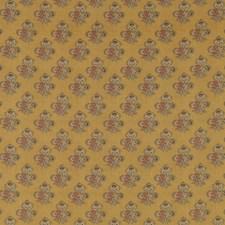Ochre Botanical Drapery and Upholstery Fabric by G P & J Baker
