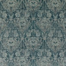 Blue Damask Drapery and Upholstery Fabric by G P & J Baker