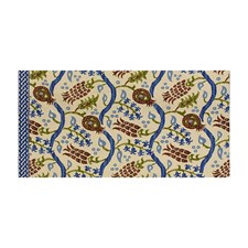 Nutmeg/Canton Blue Ikat Drapery and Upholstery Fabric by Brunschwig & Fils
