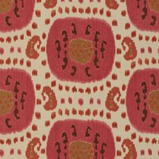 Dusty Rose/Rust Ikat Drapery and Upholstery Fabric by Brunschwig & Fils