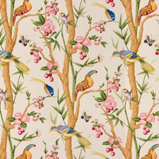 Beige Print Drapery and Upholstery Fabric by Brunschwig & Fils