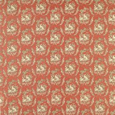 Brick Animal Drapery and Upholstery Fabric by Brunschwig & Fils