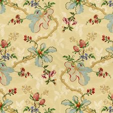 Blonde Botanical Drapery and Upholstery Fabric by Brunschwig & Fils