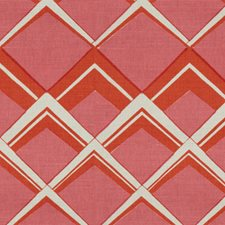 Orange Pink Modern Drapery and Upholstery Fabric by Brunschwig & Fils