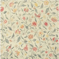 Slate and Berry Botanical Drapery and Upholstery Fabric by Brunschwig & Fils