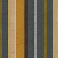 Gold/Grey Stripes Drapery and Upholstery Fabric by Brunschwig & Fils