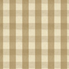 Tan Check Drapery and Upholstery Fabric by Brunschwig & Fils