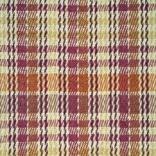 Madder/Terra Cotta/Maize Plaid Drapery and Upholstery Fabric by Brunschwig & Fils