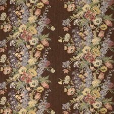 Brown/Multi Botanical Drapery and Upholstery Fabric by Kravet