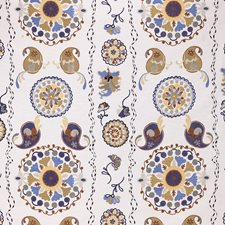 Blue/Yellow/Gold Paisley Drapery and Upholstery Fabric by Kravet