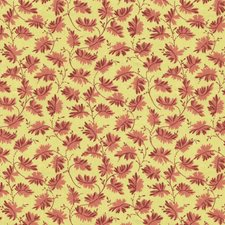 Yellow/Burgundy/Red Modern Drapery and Upholstery Fabric by Kravet