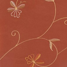 Rust Embroidery Drapery and Upholstery Fabric by Kasmir