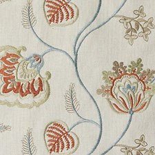 Cayenne Embroidery Drapery and Upholstery Fabric by Duralee