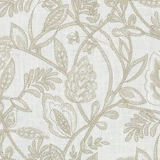 Latte Embroidery Drapery and Upholstery Fabric by Duralee