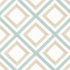 Aqua/gold Drapery and Upholstery Fabric by Duralee