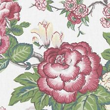 Pink/Green Floral Bouquet Drapery and Upholstery Fabric by Duralee