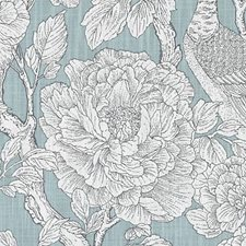 Aqua Leaf Drapery and Upholstery Fabric by Duralee
