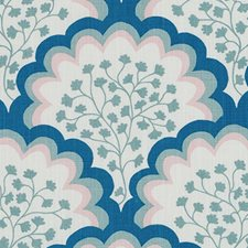 Blue/Green Leaf Drapery and Upholstery Fabric by Duralee