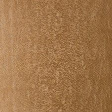 Brass Faux Leather Drapery and Upholstery Fabric by Duralee