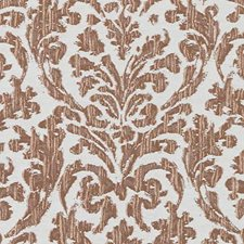 Coral Damask Drapery and Upholstery Fabric by Duralee